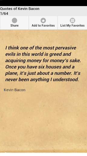 Quotes of Kevin Bacon