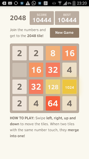 2048 Game Original Improved