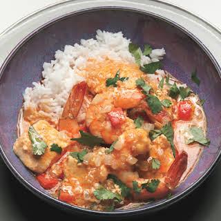 Thai Shrimp Halibut Curry.