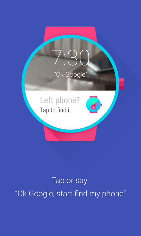 Find My Phone (Android Wear) - screenshot