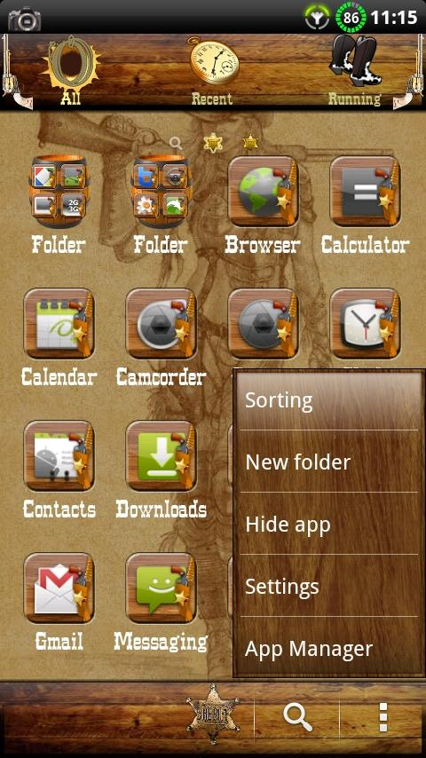 Wild West GO Launcher EX Theme - screenshot