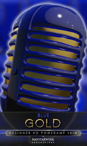 gold blue power amp skin