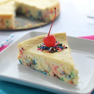 Cake Batter Cheesecake.