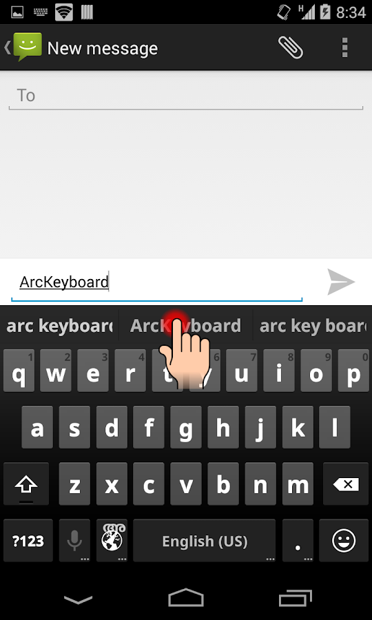 Screenshots of ArcKeyboard Marathi -मराठी for Android