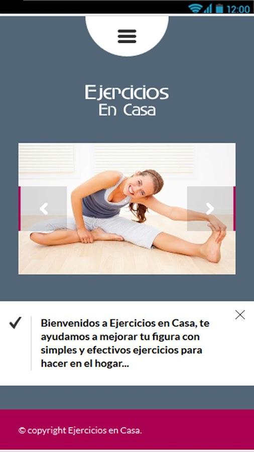 Ejercicios en casa android apps on google play - Aplicaciones para hacer ejercicio en casa ...