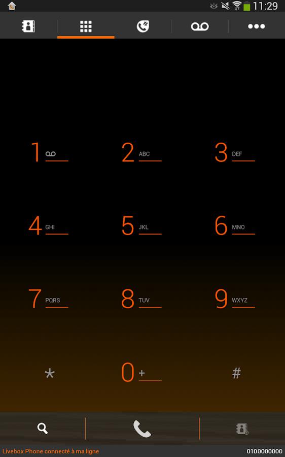 Livebox Phone - screenshot