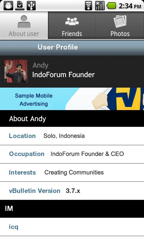 IndoForum Mobile for Android - screenshot