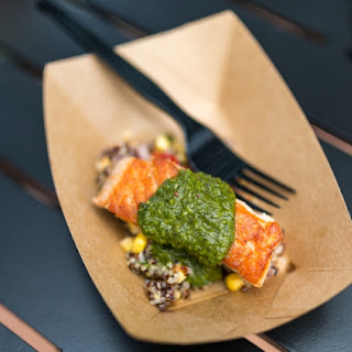 Grilled Verlasso Salmon with Quinoa Salad and Arugula Chimichurri- Patagonia 14
