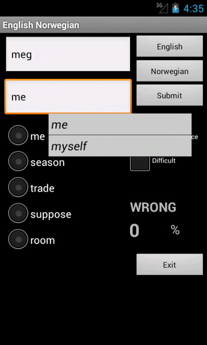Learn English Norwegian- screenshot