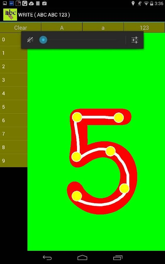 Write ( ABC  123 )- screenshot