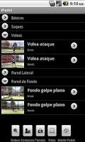 Screenshot of iPadel