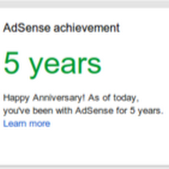 .Realização no Google AdSense...você acabou de ultrapassar um grande marco no histórico da sua conta.