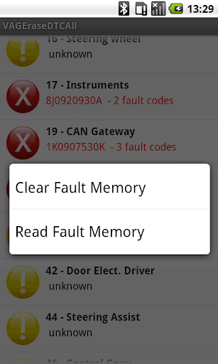 DTC Fault Memory erase for VAG  screenshots 3