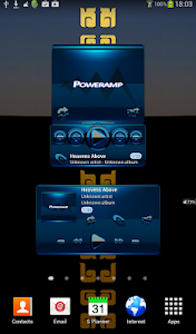 Poweramp widget BLACK BLUE v2.01