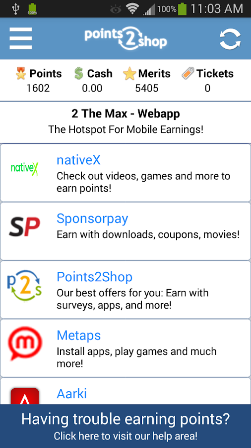 Points2Shop - screenshot