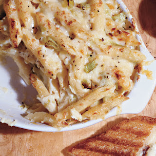 Baked Penne with Farmhouse Cheddar and Leeks