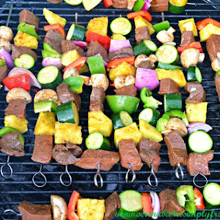 Balsamic Steak Shish Kabobs.