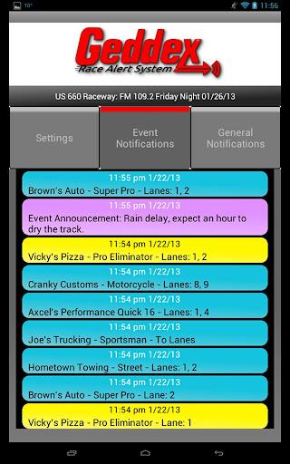 Geddex Race Alert System