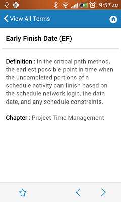 PMstudy's PMP®/CAPM® Terms - screenshot