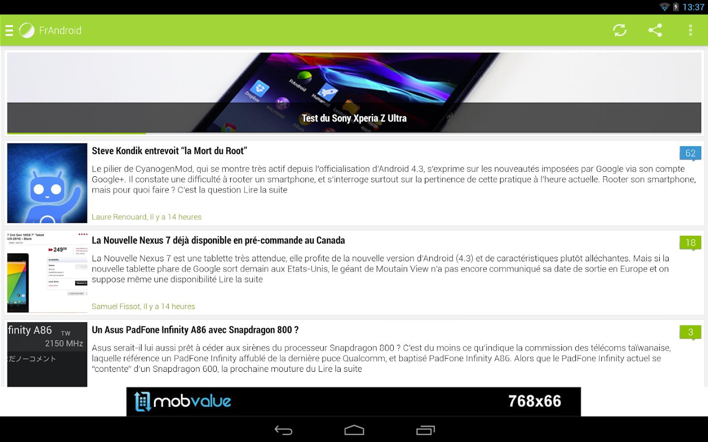 FrAndroid - screenshot