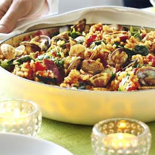 Spicy Clam & Pork Paella.