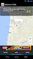 Screenshot of Sismos en Chile