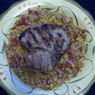 Pork Chop Skillet Meal.
