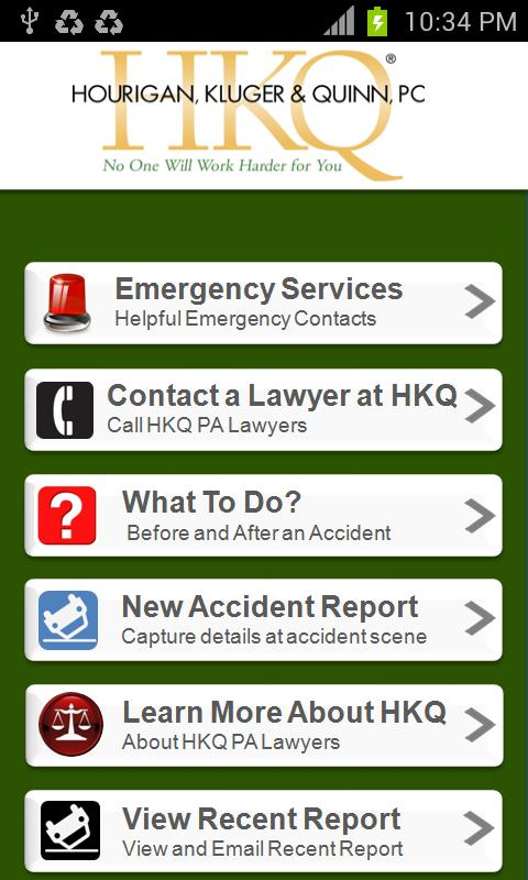 Auto Accident App by HKQ Law - screenshot