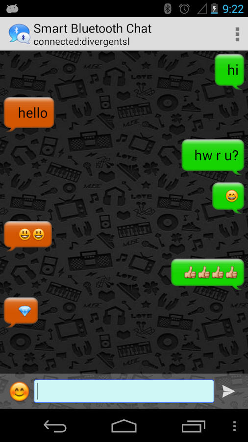 Smart Bluetooth Chat- screenshot