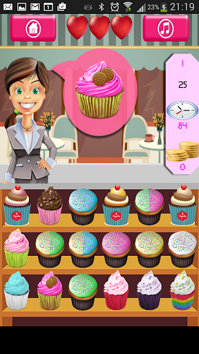 Cupcakes Shop Find Pairs Game