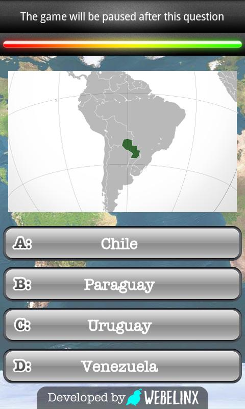 Geography Quiz Game- screenshot