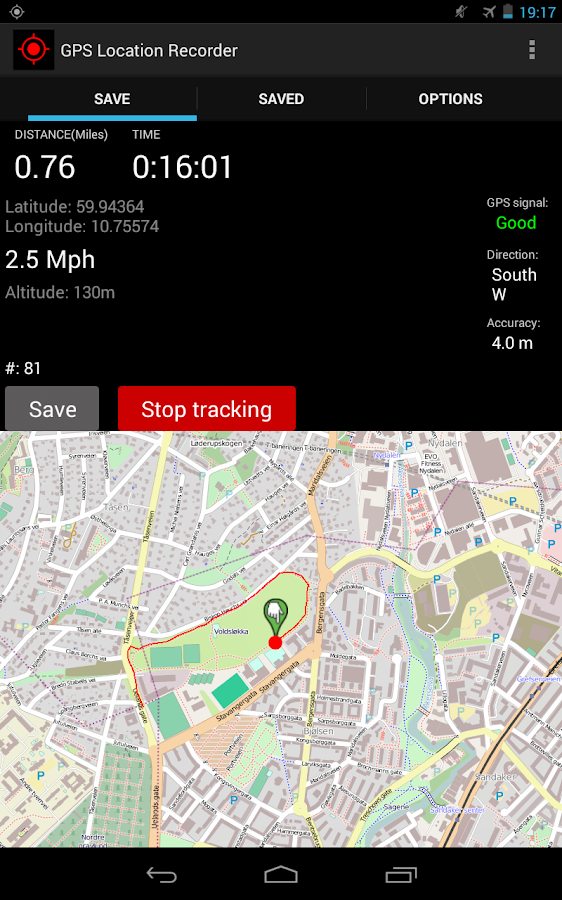 GPS Distance Location Tracker- screenshot