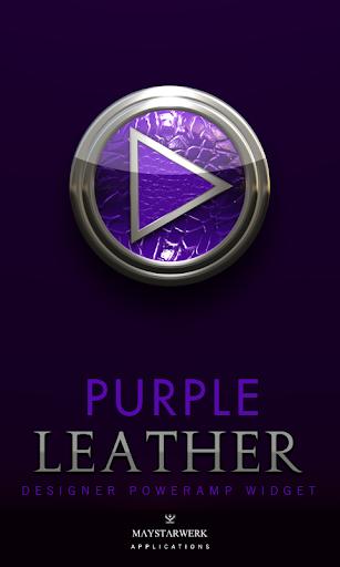 Poweramp Widget Purple Leather