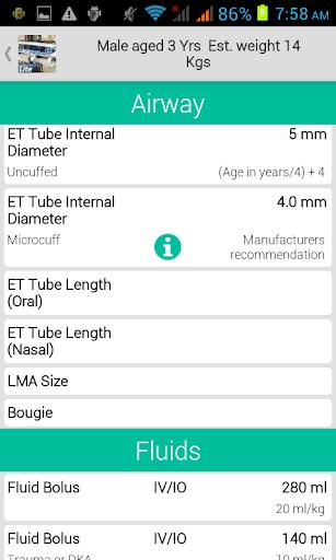PICU Calculator Lite 6.0 screenshots 3