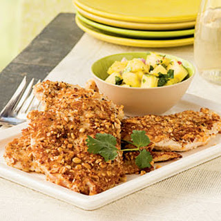 Peanut-Crusted Chicken with Pineapple Salsa