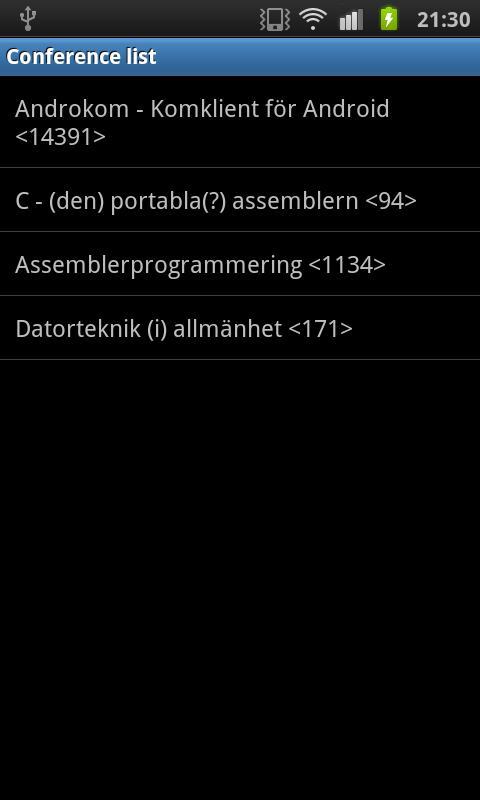 Androkom- screenshot