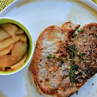 Roasted Pork Chops With Drunken Honeycrisp Apples