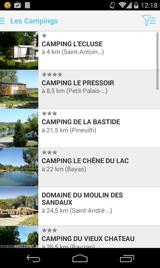 Campings Ouest Tour- screenshot