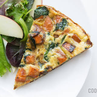 Sweet Potato and Spinach Frittata.