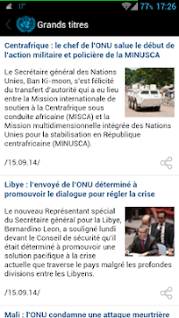 UN News Reader APK screenshot thumbnail 5