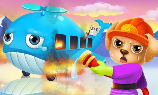 Puppy Fireman Airplane Rescue