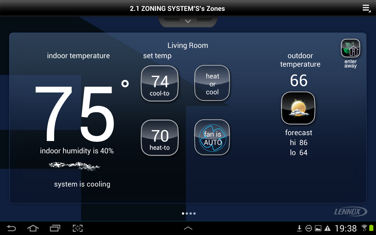 lennox icomfort thermostat. lennox icomfort wi-fi tablet- screenshot icomfort thermostat