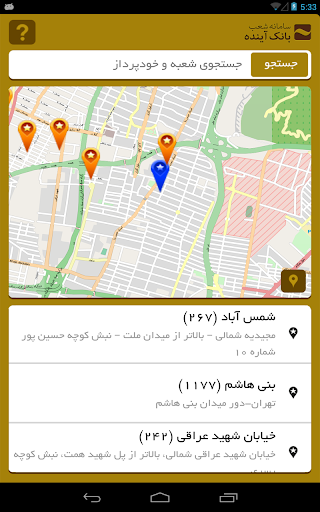Ayandeh Branches