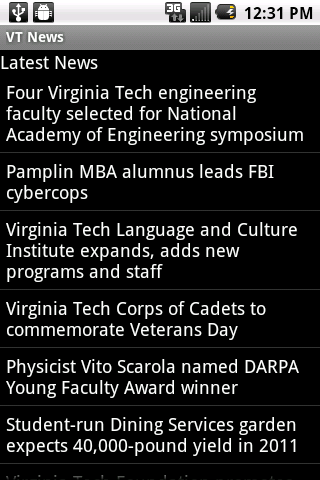 Hokie Mobile - screenshot