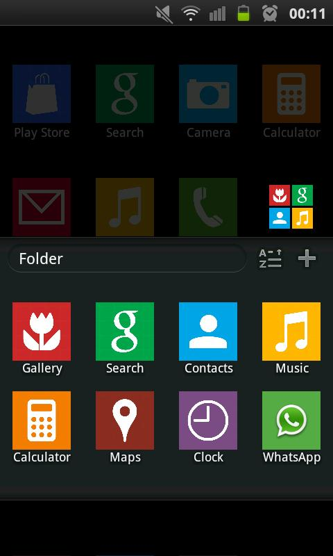 GO Launcher Windows 8 Theme - screenshot
