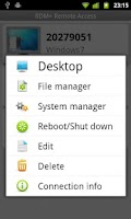 Screenshot of RDM+ Remote Desktop