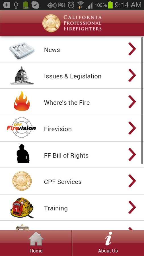 CA Professional Firefighters- screenshot