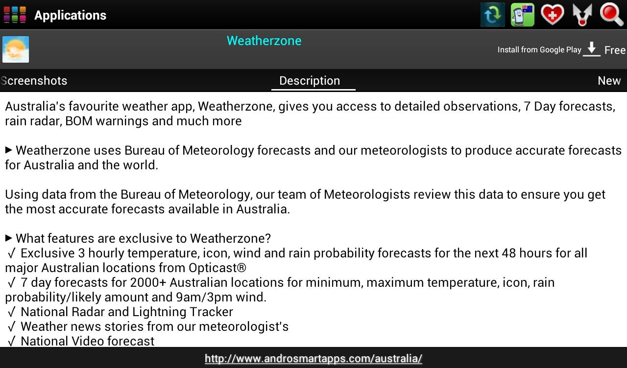Australia Android - screenshot