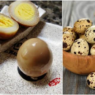 Toasted Sesame Asian Pickled Quail Eggs.