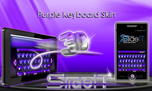 玩個人化App|SlideIT Purple 3D Skin免費|APP試玩